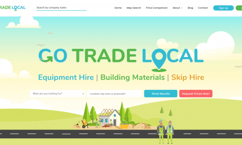 Screenshot of Go Trade Local website by Fertile Frog